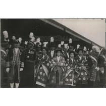 1923 Photo Japanese dignitaries coronation attire waiting for Emperor