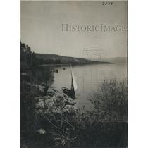 1924 Press Photo Bethsaida on shores of Sea of Galilee in Holy Land