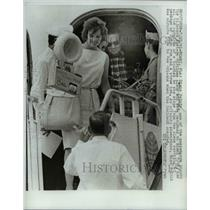 1961 Press Photo Miami, FL Diane Polnik on hikacked airplane - nee24319