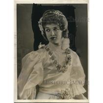 1930 Press Photo Harry H. Dunham as Jeanette Graham of Princeton