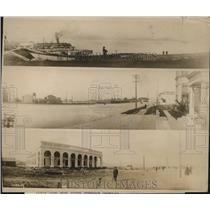 1920 Press Photo Panama Canal  & transport docks