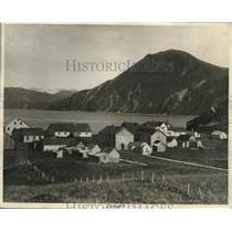 1930 Press Photo View of Dutch Harbor, Aloutian Island, Alaska