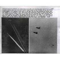 1959 Press Photo X-15 Pocket Airplane Breaks away from B-52 Mother Plane