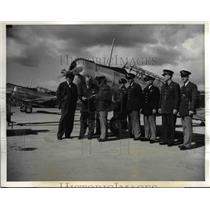 1941 Press Photo William Knudsen,J.H Kindelberger, Gen George Brett and officers
