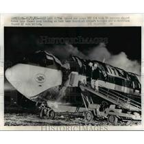 1965 Press Photo Burned Out Wreckage United Air Lines 727 Jet - nee25622