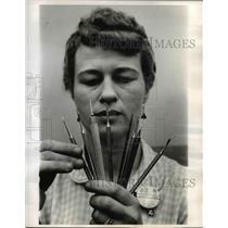 1962 Press Photo De-Burring Tools Made at North American Aviation Inc