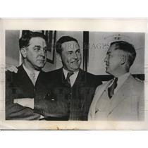 1932 Press Photo Branch Rickey, Rogers Hornsby, Sam Breadon St Louis Cardinals