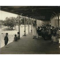 1921 Press Photo Fresh Air camp at Sea Breeze