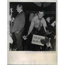 1946 Press Photo Theodore G Bilho has mexican burro as supporter, Jackson Miss.