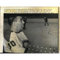 1966 Press Photo Montreal Canadiens goalie Lorne Worsley & teammates - nes27245