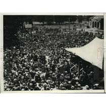 1926 Press Photo The view of the crowds who attended the Williamsburg ceremonies