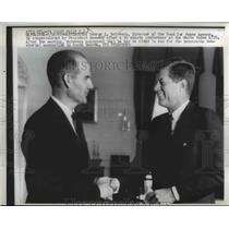 1962 Press Photo George S McGovern director of Food for Peace, John F Kennedy