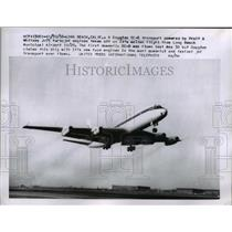 1958 Press Photo Douglas DC-8 Transport Plane