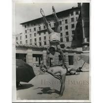 1933 Press Photo Harriet Caperton and Vernon Biddle at Miami Beach FL