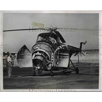 1950 Press Photo New Sikorsky H04S Navy Helicopter Unveiled at Brdigeport