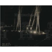 1923 Press Photo Fireworks display at Atlantic City NJ at the Boardwalk