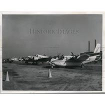 1957 Press Photo Line Up of Plane at Lakefront Airport