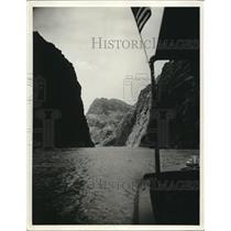 1930 Press Photo Black Canyon entrance of Colorado river, site of Boulder dam
