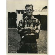 1927 Press Photo Jack Von Weigand, German war ace, shot down Quentin Roosevelt