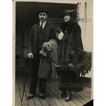 1915 Press Photo Mrs Anthony J Drexel Jr aka Marjory Gould Aboard S S New York