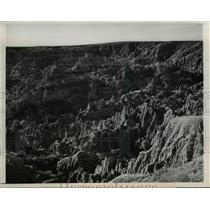 1948 Press Photo of a part of Hells Half Acre in Casper, Wyoming.