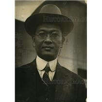 1923 Press Photo Emiliano Quijano asst finance secy of Philippines