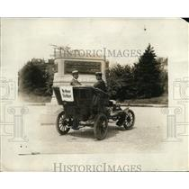 1921 Press Photo 1910 Model Car with We Never Take Water Sign