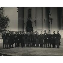 1921 Press Photo Japanese business men on tour visit at White House - nex75619