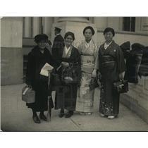 1922 Press Photo Japanes at Tomb of Unknown Soldier, Aikawa, Kubushiro