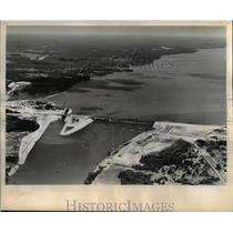 1945 Press Photo The TVA Kentucky Dam to be dedicated by President Truman