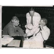1936 Press Photo Alfred Landon candidate for Pres., Frank Knox, John Hamilton
