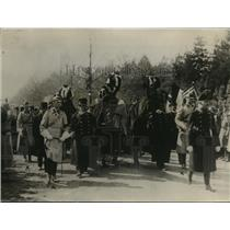 1921 Press Photo Kaiserin's Funeral Procession in Germany - nex76910