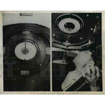 1944 Press Photo Seattle Wash. Boring developed shadow compass,