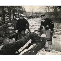 1928 Press Photo World Heavyweight Wrestler Ed Strangler Lewis and Terry Roebuck