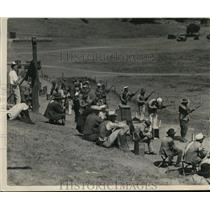 1929 Press Photo Civilians shoot it out with Navy marksmen on state rifle range