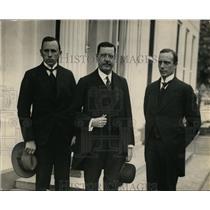1924 Press Photo Bjarne Hauge, H Brynm P A Pedersen of Norway