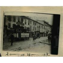 1922 Press Photo Guards Escort Armored Car Through Milan Streets, Italy
