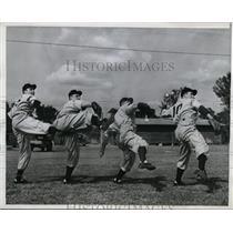 1946 Press Photo Orlando Fla Nationals Bill Kennedy, Wilfred LeFebvre