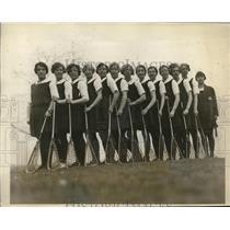 1927 Press Photo Bryn Mawr Lacrosse M Pierce, G Richman,F Berthel - nes28224