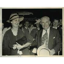 1937 Press Photo Alabama Gov Bb Graves & wife Dixie in Washington DC - nee50728