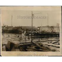 1926 Press Photo Boats Wrecked in Havana Harbor Cuba by Hurricane  - nee56924