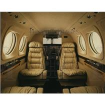 1991 Press Photo King Air C90B Interior