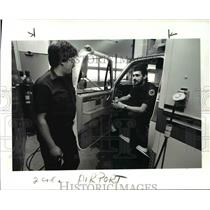 1986 Press Photo Joe Zemek & Lev Anderson of Cleve Hopkins International Airport