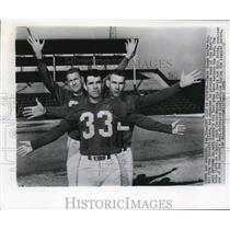 1955 Press Photo Detroit Lions Halfbacks Expected To Provide Pass Defense