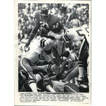 1973 Press Photo Vikings Oscar Reed, Cowboys Lee Roy Jordan & Dave Edwards