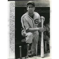 1940 Press Photo Hank Leiber Chicago Cubs Outfielder