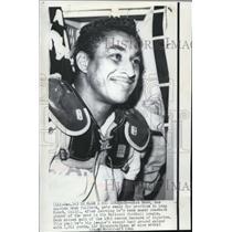 1966 Press Photo Dick Bass Los Angeles Rams Fullback