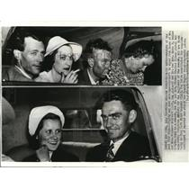 1938 Press Photo Mr. and Mrs. Richard Stoddart, Mr. and Mrs. Harry Connor