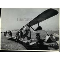 1979 Press Photo Chuck Slusarczyk, aboard an experimental plane - cva47017