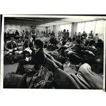 1984 Press Photo Cleveland Hopkins Airport